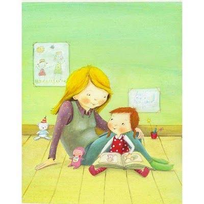 madre y niña leyendo
