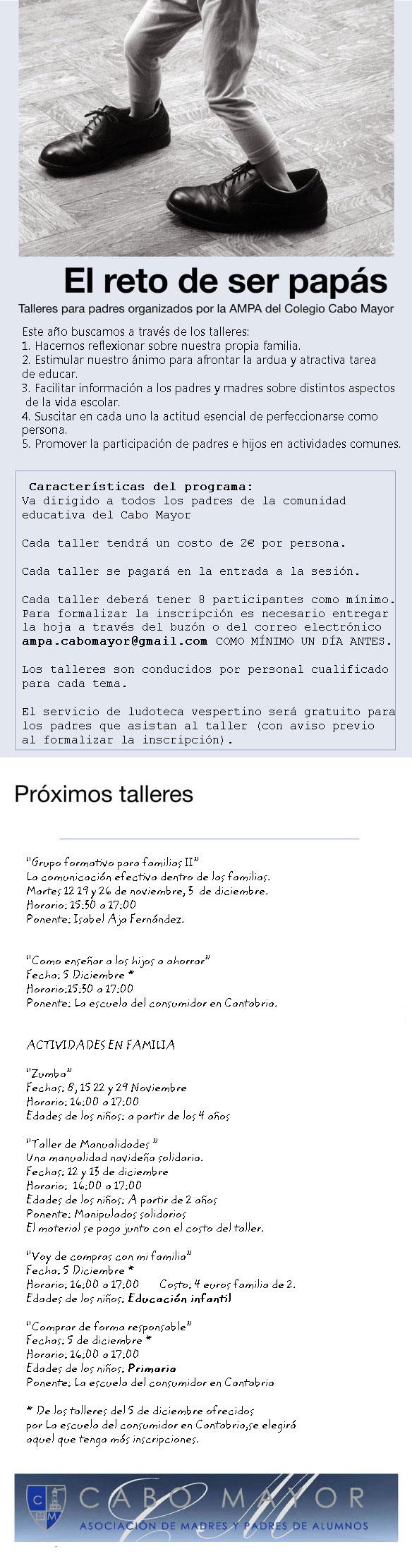CICLO DE TALLERES PARA PADRES