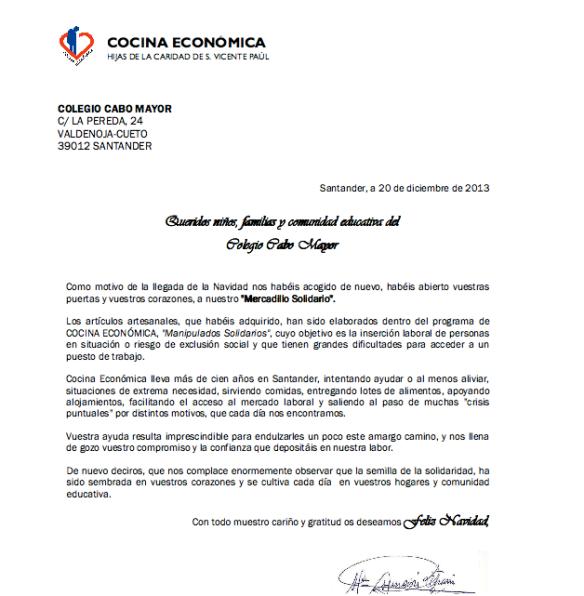 carta cocina económica